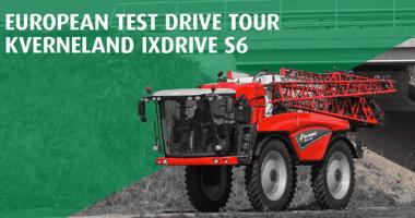 Kverneland Test drive tour със самоходна пръскачка iXdrive S6
